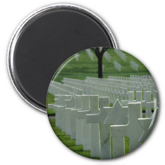 World War II cemetery, Memorial Day 6 Cm Round Magnet