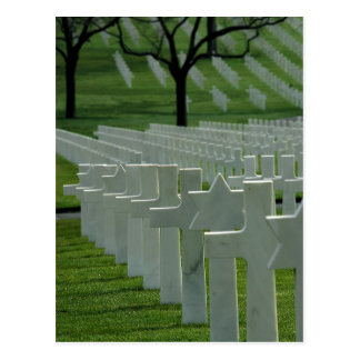 World War II cemetery, Memorial Day Postcard
