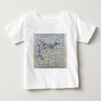 World War II D-Day Map June 6, 1944 Baby T-Shirt