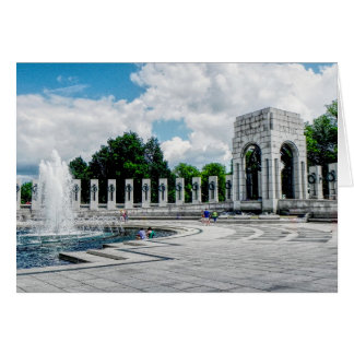 World War II Memorial ---- Note card