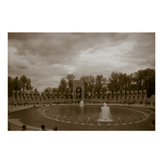 World War II Memorial Old Time Print
