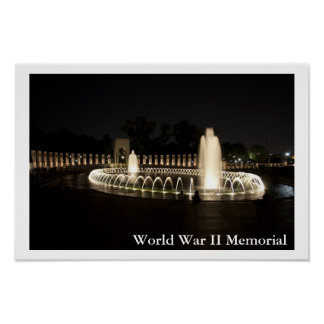 World War II Memorial Poster