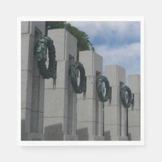 World War II Memorial Wreaths I Disposable Napkin