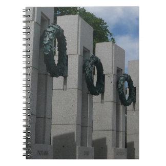 World War II Memorial Wreaths I Notebook