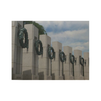 World War II Memorial Wreaths I Wood Poster