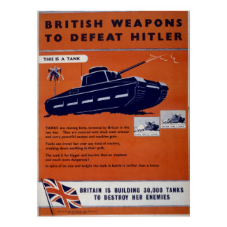 World War II poster - British Weapons