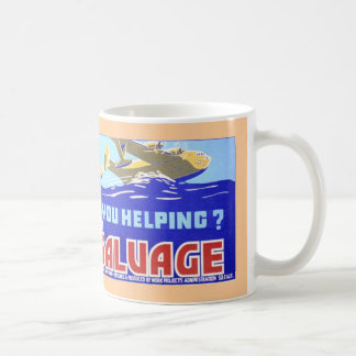 World War II Vintage Poster: Are you Helping Basic White Mug