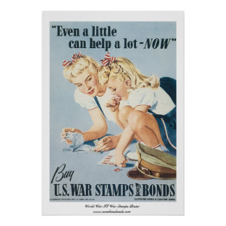 World War II War Stamps Poster