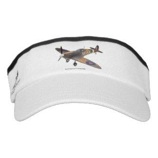World War ll Aircraft for Custom Knit Visor, White Visor