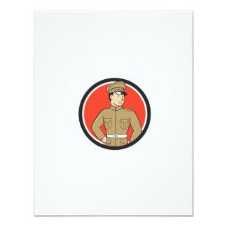 World War One British Officer Standing Circle Cart 11 Cm X 14 Cm Invitation Card