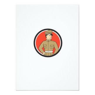 World War One British Officer Standing Circle Cart 14 Cm X 19 Cm Invitation Card