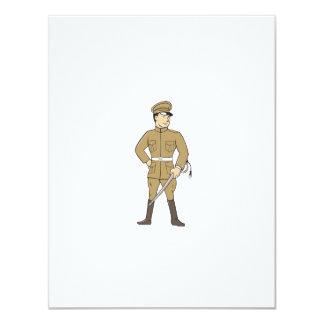 World War One British Officer Sword Standing Carto 11 Cm X 14 Cm Invitation Card