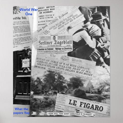 World War One poster