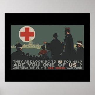 'World War One Red Cross' Poster