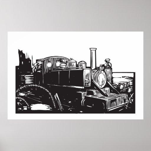 World War One Train Poster