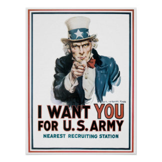 World War One Uncle Sam Recruiting Poster