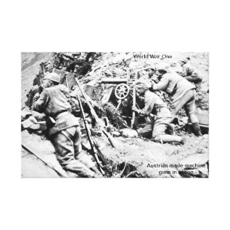 World War One wrapped canvas