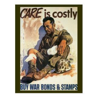 World War Postcards, War Bonds Med Corps Postcard