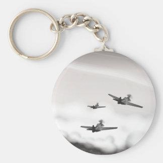 World War Two Aeroplanes Basic Round Button Key Ring