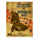 World War Two American soldier marching Post Card