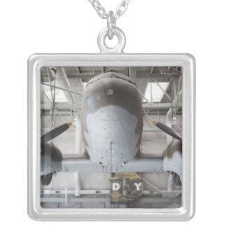 World War Two C-47 Dakota transport aircraft, Square Pendant Necklace