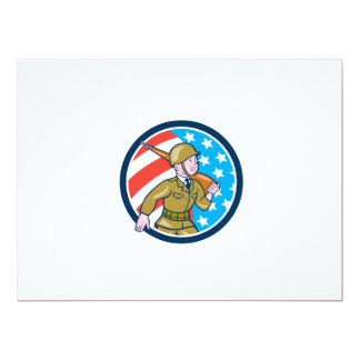 World War Two Soldier American Marching Cartoon Ci Personalized Invite