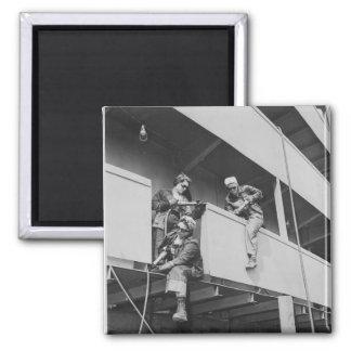 World War Two Women Chipping Slag Fridge Magnet