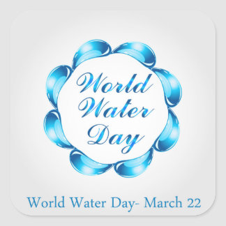 World water day March 22 Square Sticker