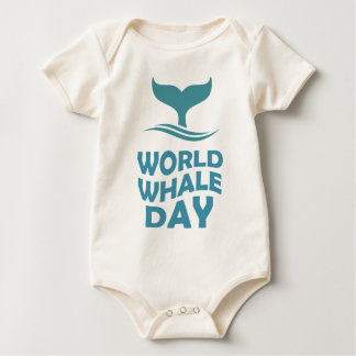 World Whale Day - 18th February - Appreciation Day Baby Bodysuit