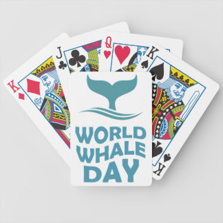 World Whale Day - 18th February - Appreciation Day Bicycle Playing Cards