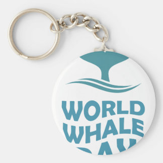 World Whale Day - 18th February - Appreciation Day Key Ring