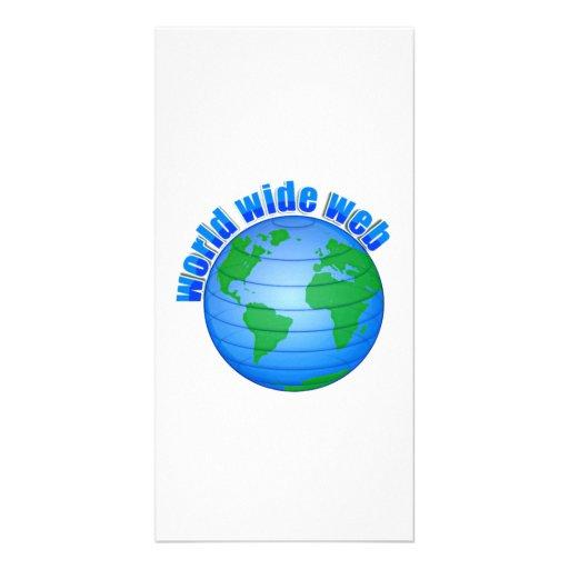 World Wide Web Photo Card Template