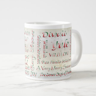 World Wide Winter Holidays - Typography #2 Large Coffee Mug