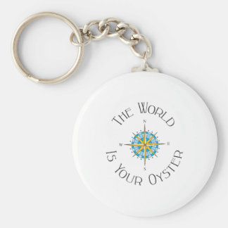 World Your Oyster Key Ring
