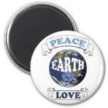 worldlove 6 cm round magnet