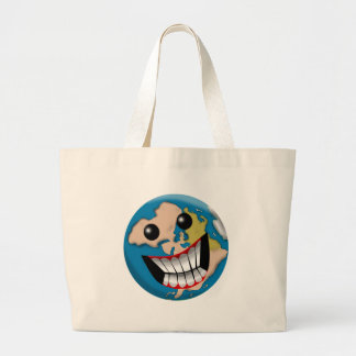 Worldly Smile Tote Bags