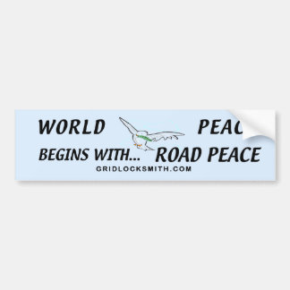 WORLDPEACEbegins Bumper Sticker