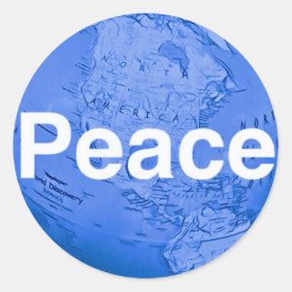 #WorldPeaceStickers Classic Round Sticker