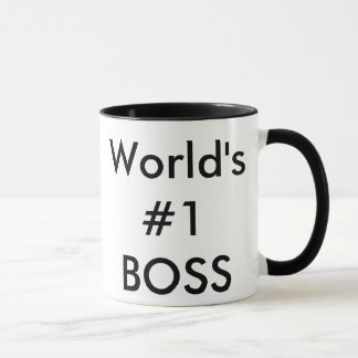world's #1 boss mug