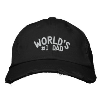 World's #1 Dad Embroidered Hat