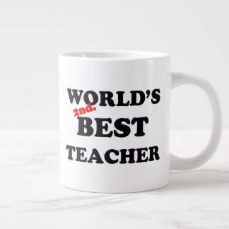 World's 2nd. Best Teacher Large Coffee Mug