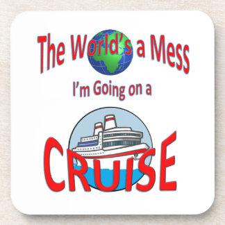 World's a Mess Cruise Humor Coaster