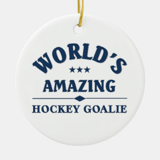 World's amazing Hockey Goalie Ceramic Ornament