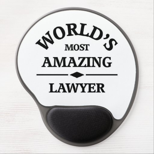 World's amazing lawyer gel mouse mat