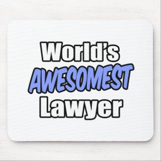 World's Awesomest Lawyer Mousepad