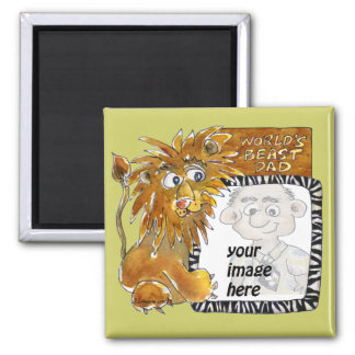 Worlds Beast Dad Fathers Day Magnet