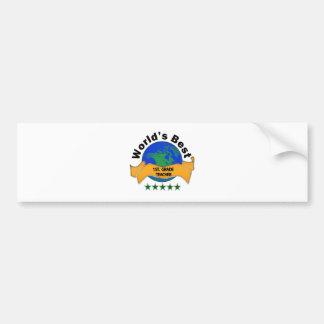World's Best 1st. Grade Teacher Bumper Sticker