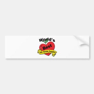 World's Best 1st. Grade Teacher Bumper Stickers
