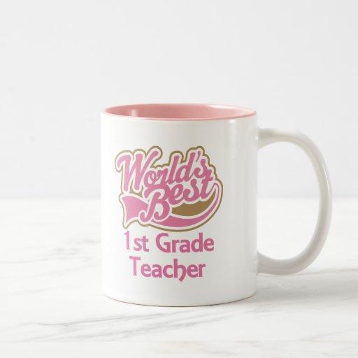 Worlds Best 1st Grade Teacher Mugs