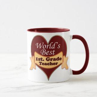 World's Best 1st. Grade Teachr Mug